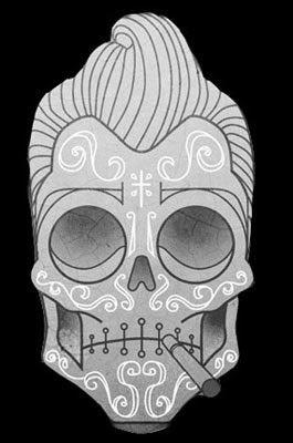 Desenhos de tattoos de caveiras mexicanas