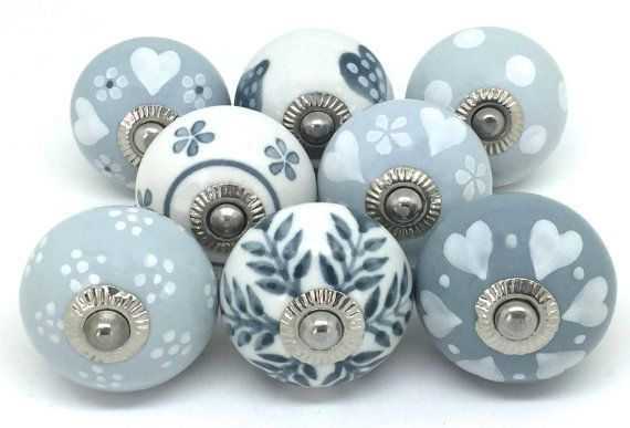 Set of 8 Ceramic Door Knobs Designed By & Exclusive by ThesePlease