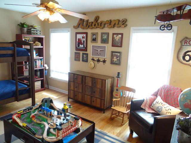 boy s vintage transportation bedroom  toddler room  airplanes  cars  trucks. 66 best AIRPLANE ROOM images on Pinterest   Boys airplane bedroom