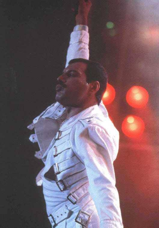 Freddie Mercury, fabuleux, comme toujours. Il nous a quitté si jeune que nous continuons de le regretter tous les jours...