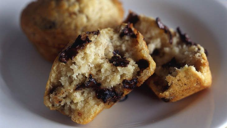 Banana and chocolate are well paired in this easy to make muffin recipe.