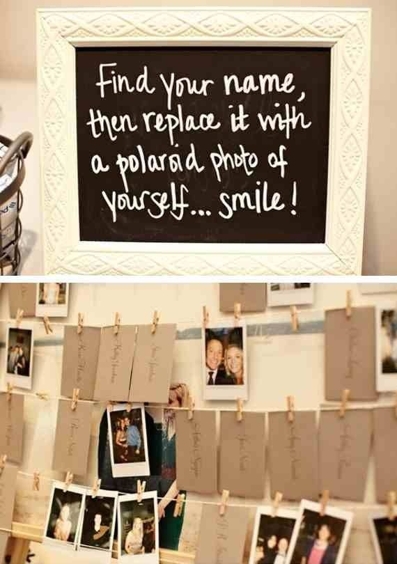 Quirky photo idea for guests.