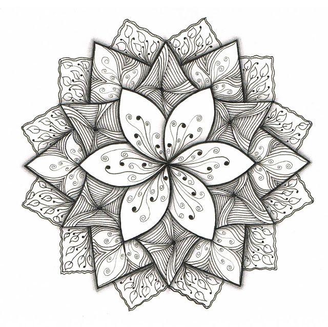 draw easy cool patterns mandala doodle pen zentangle lines