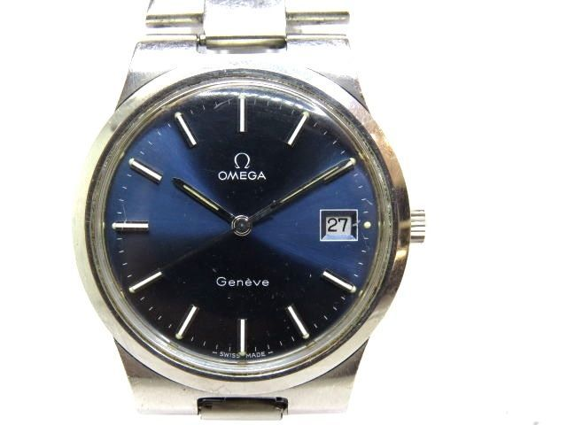 Vintage OMEGA GENEVE Stainless Steel Mechanical Men Used Watch #Omega #Casual