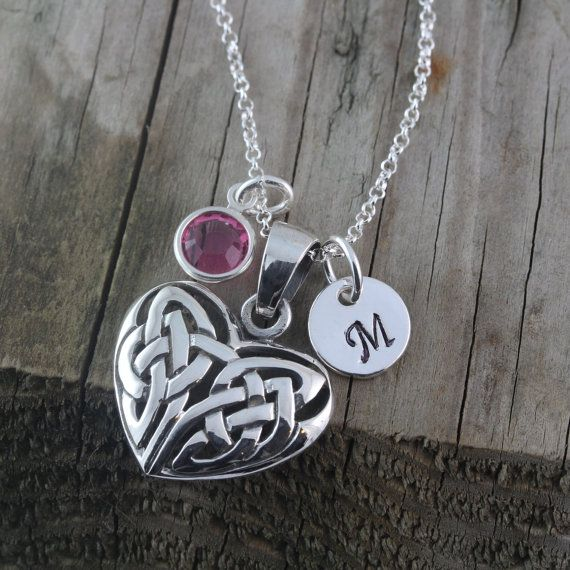 Sterling Silver Celtic Love Knot Necklace . Celtic by LifeOfSilver, $34.80