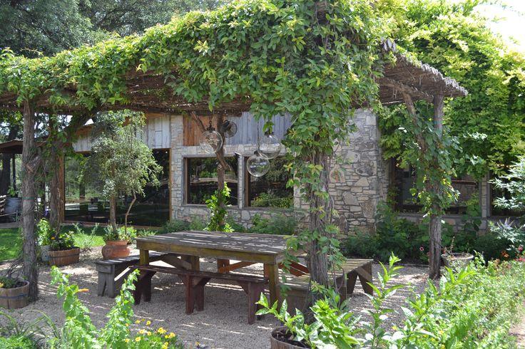 Ivy Covered Pergola Outdoor Spaces Covered Pergola