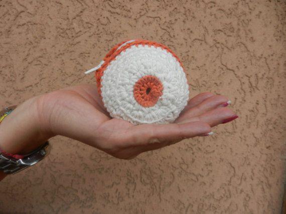 portamonete bianco e arancione di AlwaysLoveAffairs su Etsy