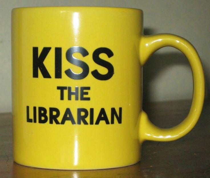 KISS THE LIBRARIAN Mug - Buffy the Vampire Slayer BtVS Spike Giles FREE SHIPPING