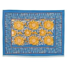 Sunflower Yellow & Blue Placemats Set of 6