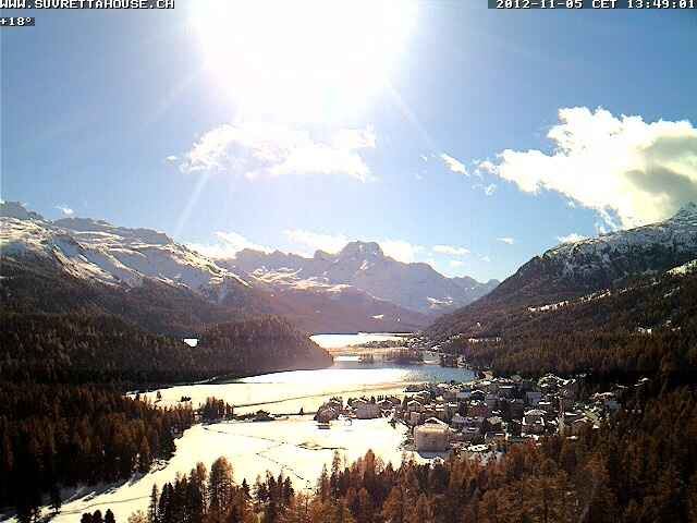 Favolosa vista del lago di St. Moritz