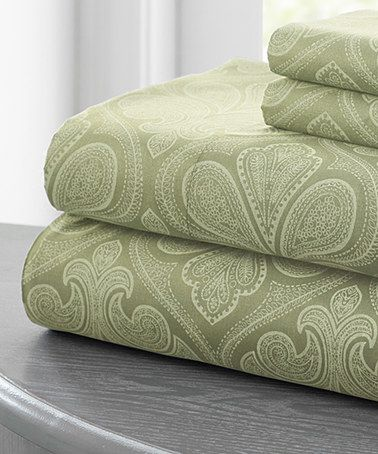 Look what I found on #zulily! Elm Paisley Sheet Set by Colonial Home Textiles #zulilyfinds