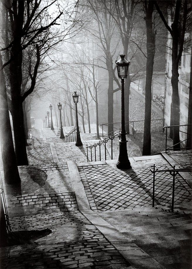 """These steps lead to the only hill in Paris. Regina Doman fans might be interested to know that the Basilica at the top of the hill is called the """"Sacre Coeur"""""""