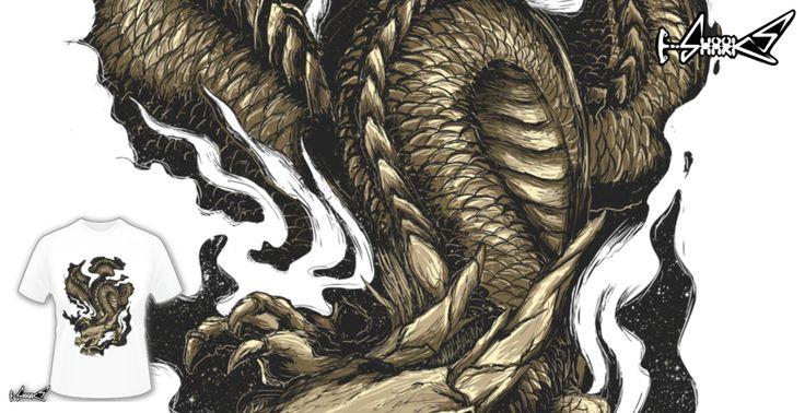 T-shirts - Design: Golden Dragon - by: Lou Patrick Mackay