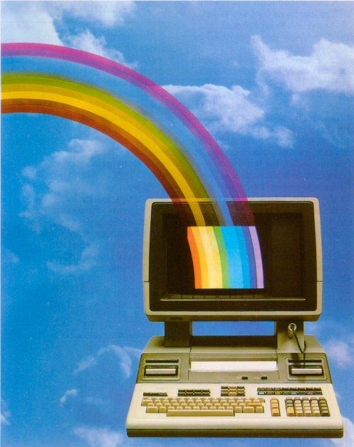 1980s Computer Advertisement - History of Computers / Vintage Technology / Tech / PC / Rainbow