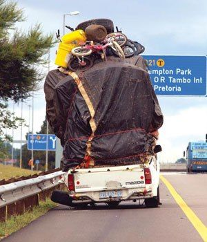 Seriously?? And no Traffic Control. Just had to do it one trip.............. This is in South Africa.