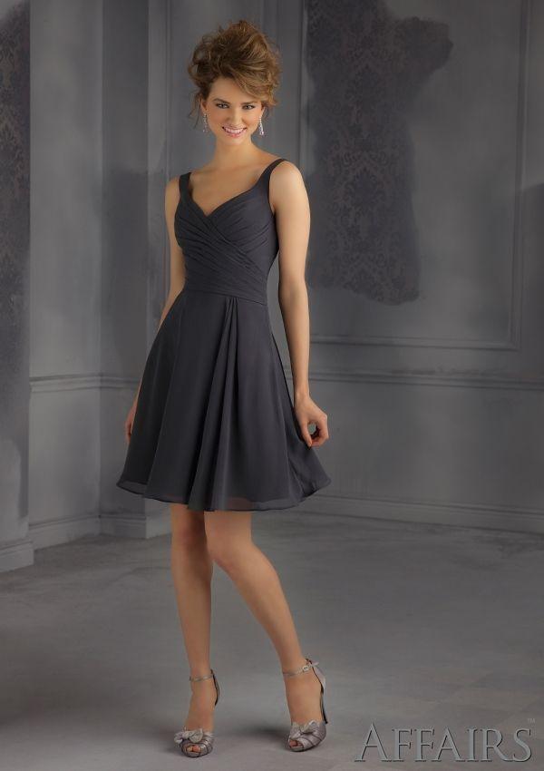Short Bridesmaids Dress From Affairs By Mori Lee Dress Style 31042 Chiffon Bridesmaid Dress
