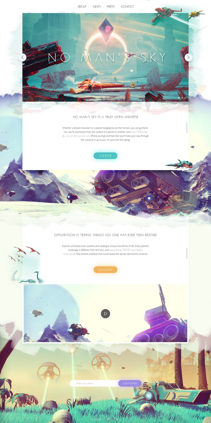 No man's sky website – Landing page by Malte Westedt