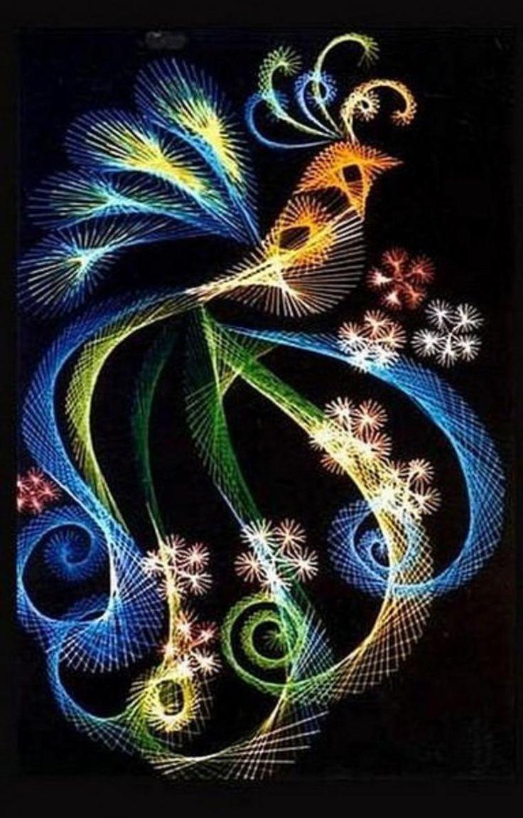 Необычные виды вышивки: нитяная графика - Ярмарка Мастеров - ручная работа, handmade