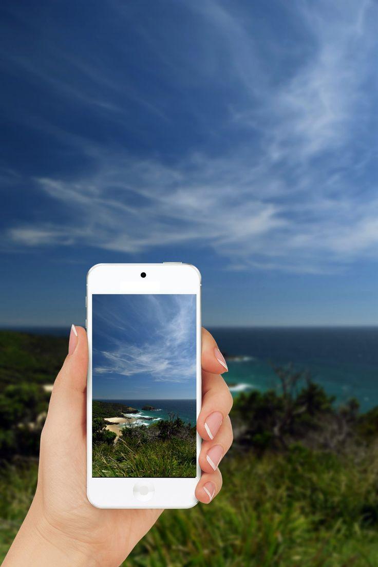 Smartphone Hand Beach People