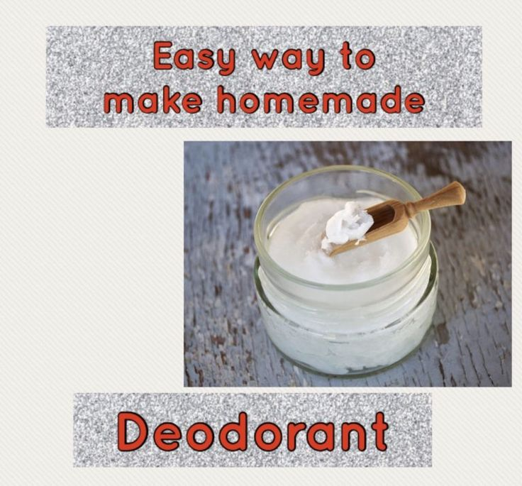 Simple method to make do-it-yourself deodorant