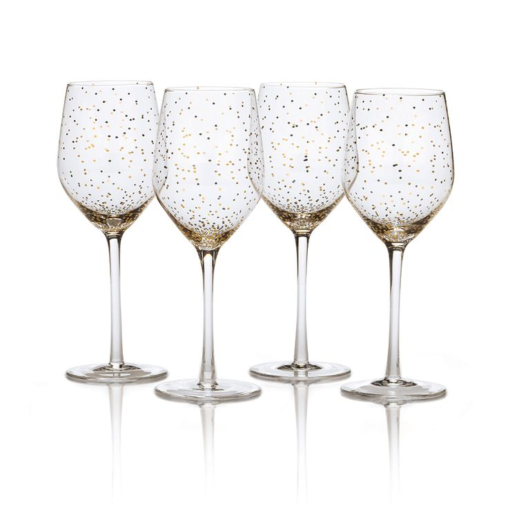 Buy Lustre Set of 4 Dots Gold Wine Glasses online at Mikasa.com