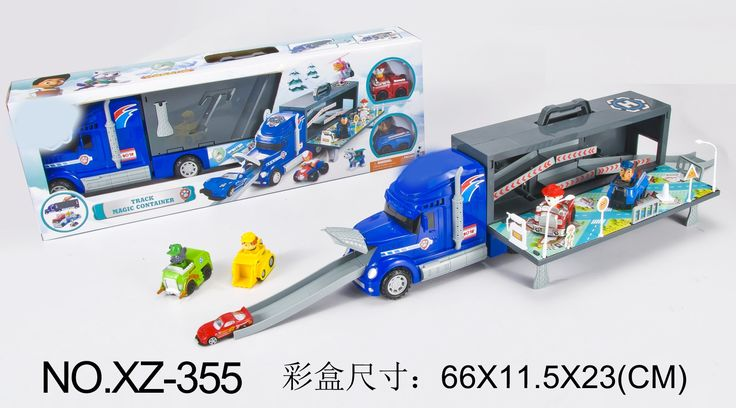 49.88$  Watch here - http://aliamc.shopchina.info/1/go.php?t=32777344371 - Puppy patrol dog magic container truck with 2 dogs and alloys Anime car color boxed kids toys Russian Anime Doll Action Figures  #aliexpressideas