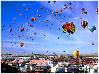 The Balloon Festival in Albuquerque is spectacular, but part of the fun of living in Albuquerque is seeing balloons up every morning.