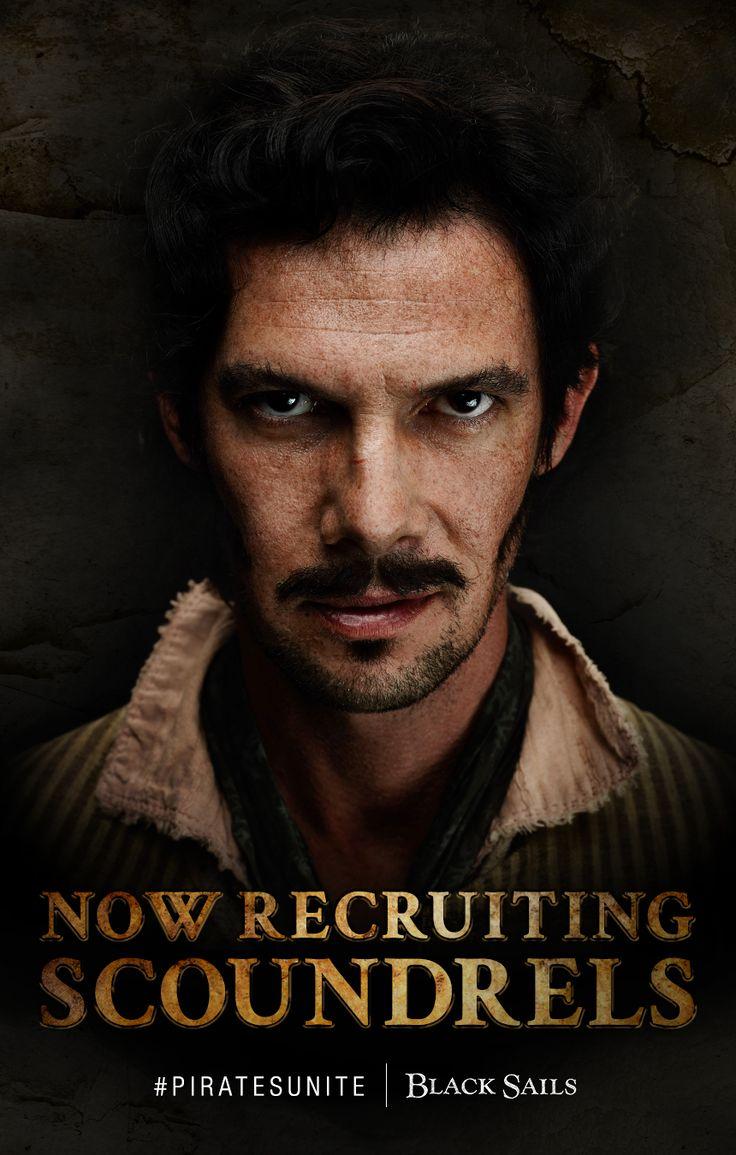 Black sails s3 pirate captain flint leather coat - Toby Schmitz As Jack Rackham Black Sails Piratesunite