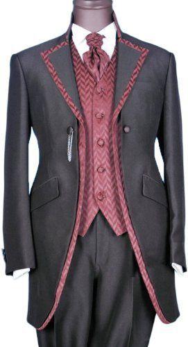 Gray Satin Mens Button Noble Tuxedo Suits Jackets Necktie Pants Vest Shirt