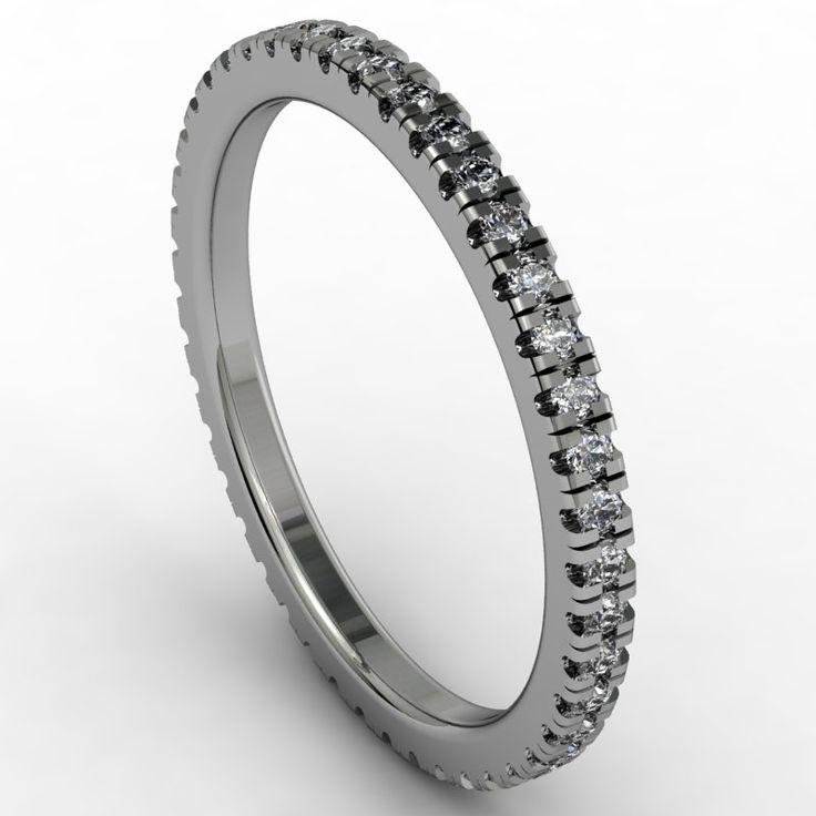 Full Diamond Eternity Ring Design. This is going to be beautiful & dainty! www.samuelkleinberg.com
