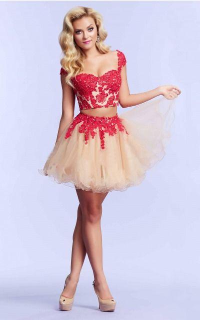 Zipper Short Natural Ball Gown Lace Formal Dresses aobb2001