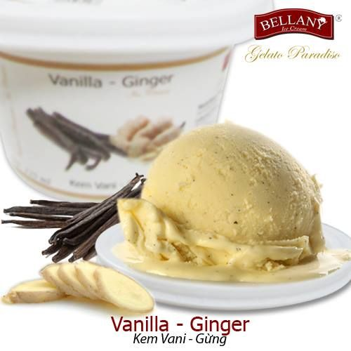 BELLANY VANILLA-GINGER With a spicy taste of ginger mixed with smooth vanilla ice cream flavor, melting in your mouth both cool and piquant for a genuine gourmet experience. It's extremely interesting and worth to try! #bellanyicecream, #vanillagingericecream   #kemvanigung   #kemsanhan