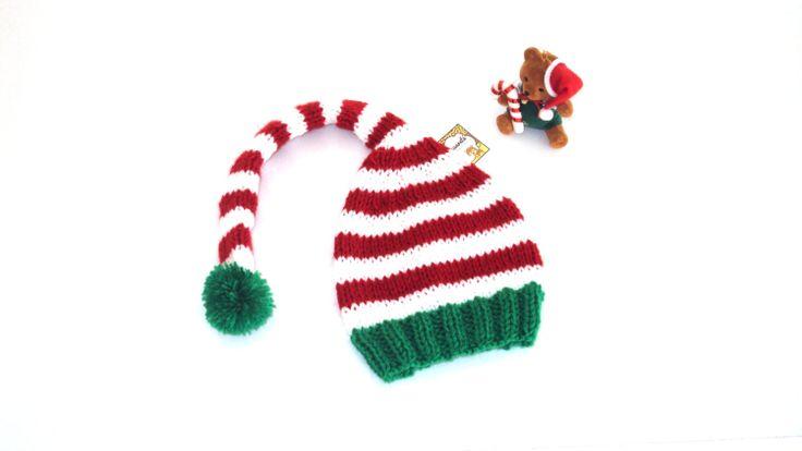 Gorro de Navidad para bebés Gorro de elfo Regalo por Yaguarete, $12,00