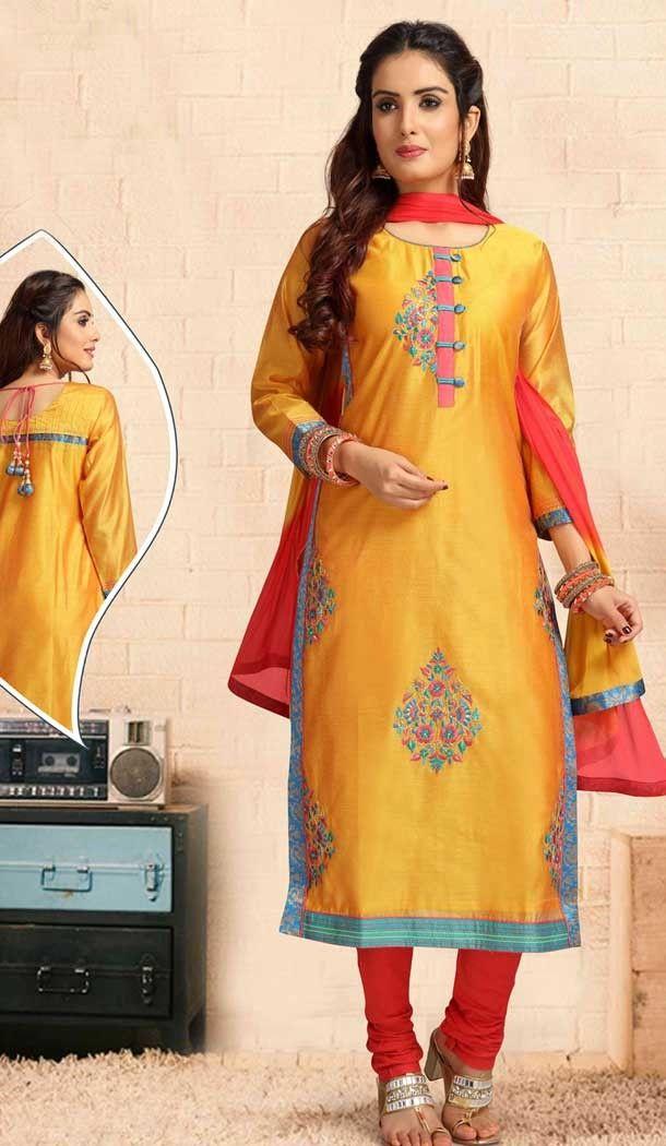 da97c516d4 Yellow Color Chanderi Silk Designer Full Stitched Suits   381645648 # heenastyle #christmassale #Christmas2018 #sale52off #salwarkameez #designer  #dresses # ...