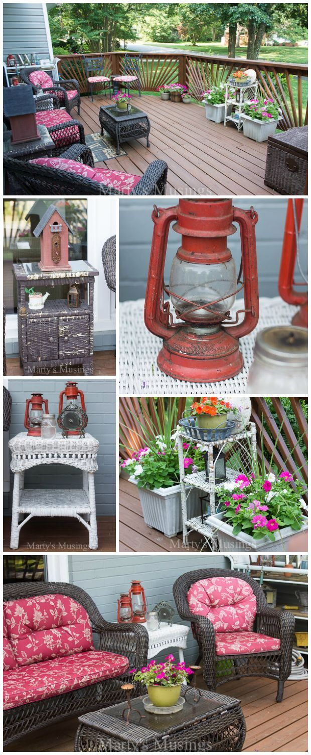 These budget decorating ideas for decks and other outdoor spaces will inspire you to shop yard sales, thrift stores and even curbside for inexpensive treasures to repurpose and update for a beautiful space you will love. You don't have to be a designer to create an outdoor space you will love!