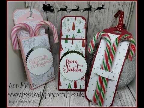#5 Festive Friday Candy Cane Treat Box With Pull Out Tag - YouTube