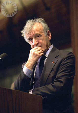 "Eliezer ""Elie"" Wiesel (1928-2016) was a Romanian-born, Jewish American writer, professor, political activist, Nobel Laureate, and Holocaust survivor. He authored 57 books, including Night, a work based on his experiences as a prisoner in the Auschwitz and Buchenwald concentration camps."