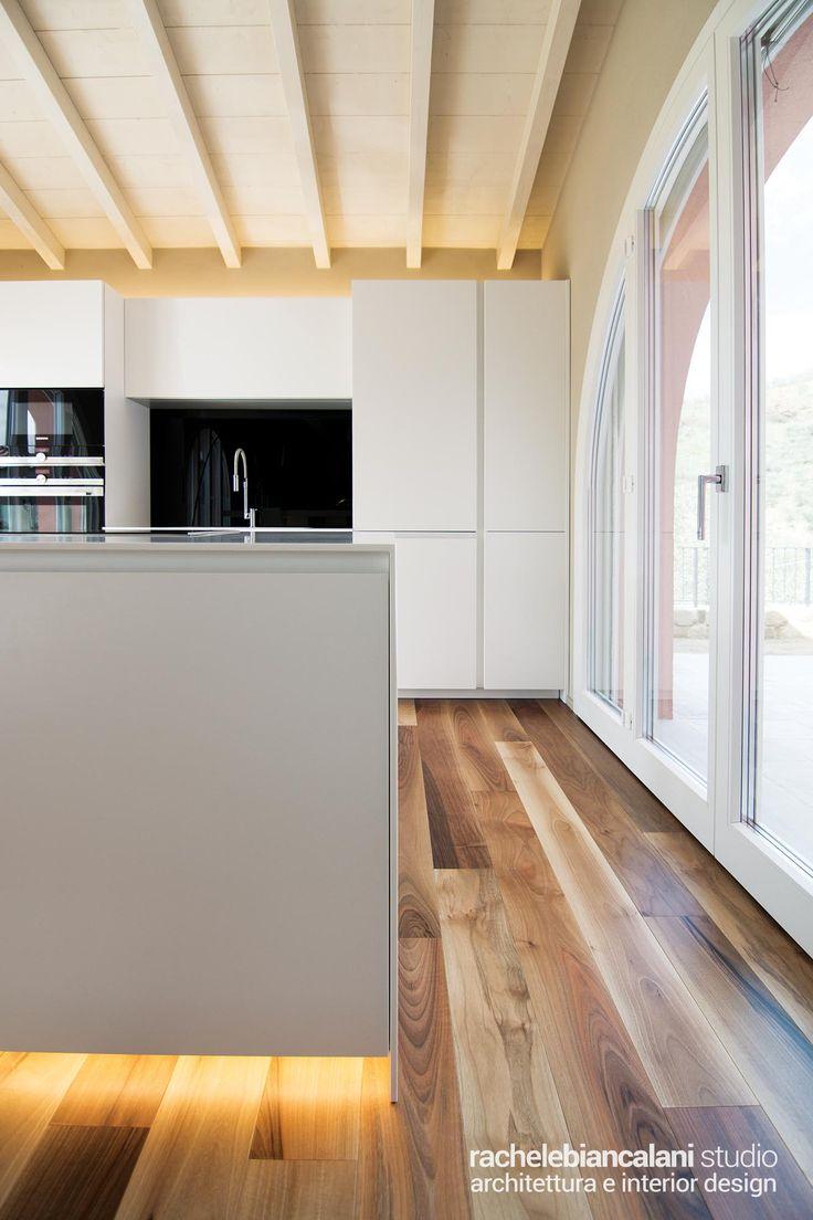 kitchen led lighting wood celing and floor