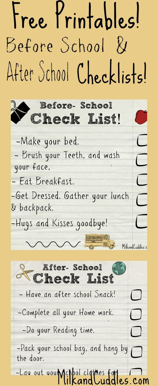 Streamlining your before school routine can be tricky! Maybe you have your resident sleepy head to get moving, or perhaps you have that one child that keeps getting side tracked! Limited time + stressed out kids = morning chaos! Here are two Free Printable checklists for Before school and after school! #fuelforschool #ad #freeprintable More