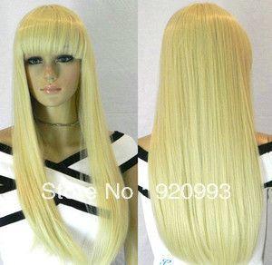 Бесплатно P и P ******* мода нью-лонг светло-русый женского косплей / парики +