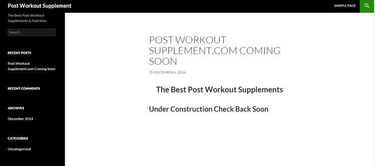 Post Workout Supplement | The Best Post Workout Supplements & Nutrition