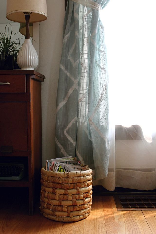 Hand-Painted Curtain DIY tutorial
