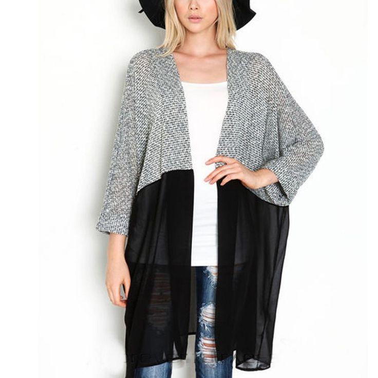 Longo Cardigan Camisola Das Mulheres Lady Chic Inverno Malha Cardigans Tops Plus Size Casual Mulheres Blusas De Malha