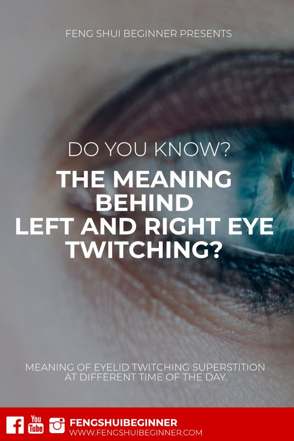 Right eye blinking for male astrology meanings