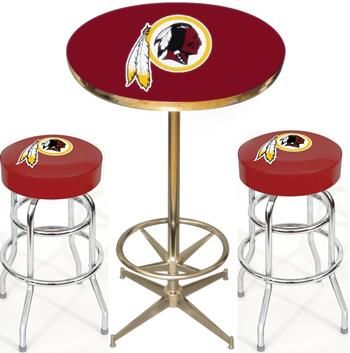 start tab Description The New York Giants NFL Pub Table Set includes the New York Giants Pub Table and two New York Giants Bar Stools