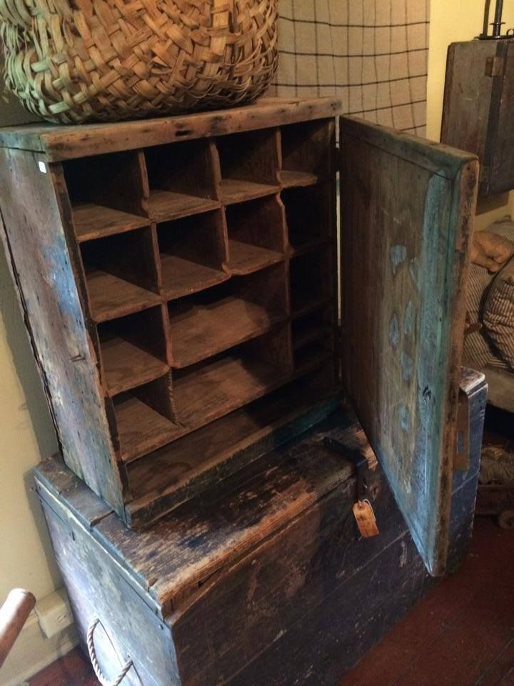 Early cubby with a breadboarded door