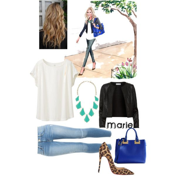 I will name her Marie by skittlecutie716 on Polyvore featuring polyvore, fashion, style, Uniqlo, Maglie I Blues, Frame Denim, Christian Louboutin, Sophie Hulme and Kendra Scott