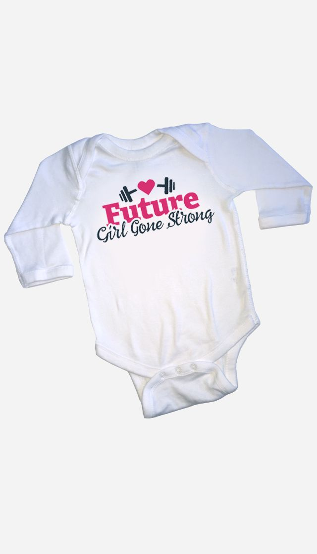 Future Girl Gone Strong bodysuit - sized from 0m-18m