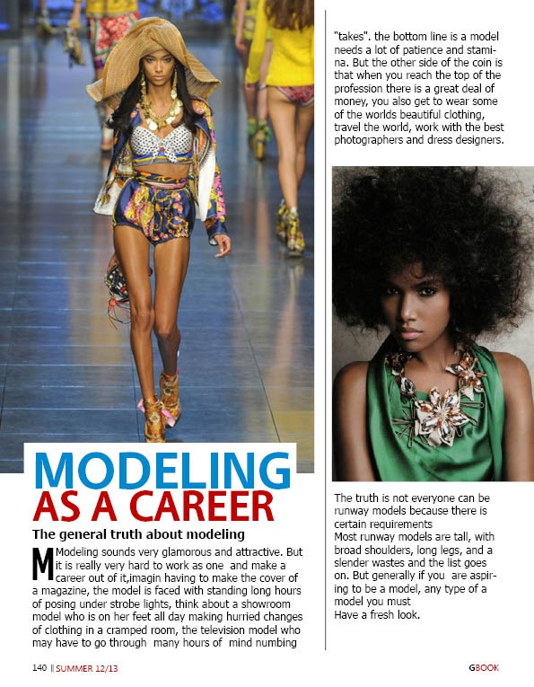 Modelling as a career