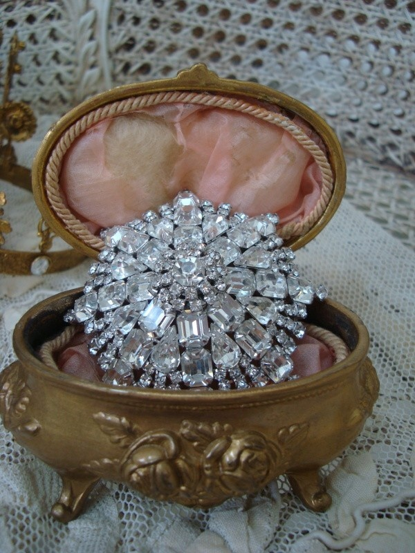 Gorgeous Victorian Jewelry Box With Roses
